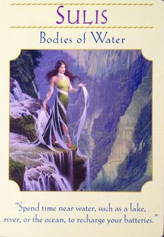 16 June 2015: #DailyCardReading #PsychicReading #oracle #SpiritualGuidance  SULIS ~ BODIES OF WATER ~  Water is a conductor of energy - have you noticed how your receptivity and awareness of your thoughts and of the world around you amplifies when you are surrounded by water? Do you have ah-ha moments while you shower? Are you able to see the inter-connectivity of things when you are near   ...See the whole reading at https://www.facebook.com/AmethystRoseNewAgeProductsandServices <3 Vanda xx