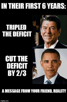 Here's a little deficit reality for you...Republicans, feel free to keep pretending that it doesn't exist.
