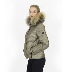 Bogner Sally D Ski Jacket Premium Trim Edition in Gold