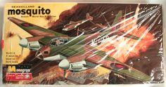 Monogram 1/48 De Havilland Mosquito - N.F.II / Mk.IV / F.B.VI / II Night Intruder Four Star Issue, PA129-200 plastic model kit