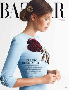 Bianca Balti in Dolce & Gabbana for Harper's Bazaar Mexico November 2015