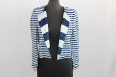 Alice & Olivia sequin striped jacket