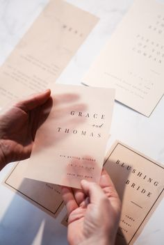 Grace collection Save the Date created using black ink and nude vellum Pixel Tuning Shop Modern Wedding Stationery, Wedding Stationery Inspiration, Wedding Invitation Design, Wedding Stationary, Lettering, Branding, Invitation Cards, Invites, Visual Identity