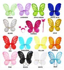 """3pc 14""""x15"""" Fairy Angel Butterfly Wings Infant Toddler Child Costume TOY GIFT"""