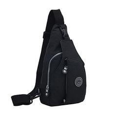 Daosen Women Casual Chest Pack Unbalance Backpack Sport Sling BagHiking Bag Black * Find out more about the great product at the image link.