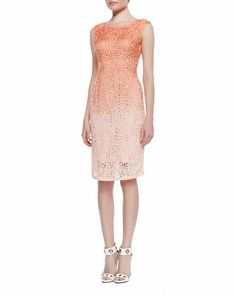 Cutout Ombre Sheath Dress  by Lafayette 148 New York at Neiman Marcus.