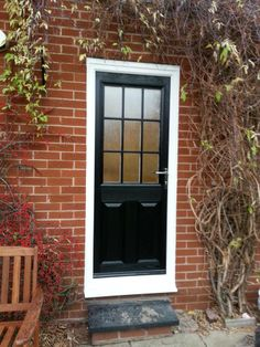 A Black Composite Door From Our Beautiful Range Style K Value Doors Uk Offer