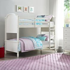 Dorel Living Vivienne Twin over Twin Bunk Bed - White - DL1010BB