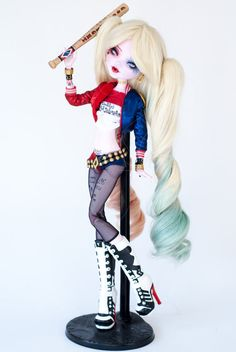 Harley Quinn inspired 17 Draculaura Monster by ColourToTheBone