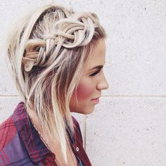 #AvedaBlonde and braids are the perfect pair. (Photo by stylist Jessica Ryland.)