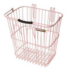 Basil Milk Bottles Bicycle Basket Pink