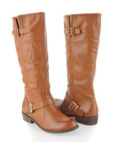 Calf-Length Leatherette Boots - Shoes - 2000022870 - Forever21
