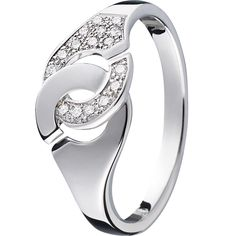 Dinh van Bague Menottes dinh van R8 or blanc et diamants