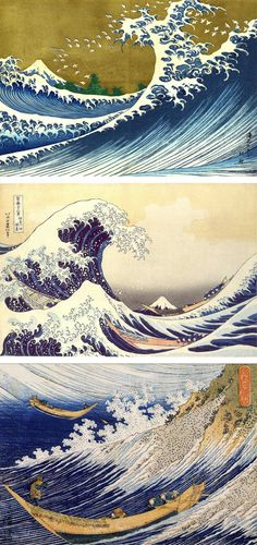 "bluebirdofhappinessstuff:"" ""We cannot control our life. As Hokusai shows so memorably, the great wave is in waiting for any boat. It is unpredictable, as uncontrollable now as it was at the dawn of time. Will the slender boats survive or will they. Japanese Waves, Japanese Prints, Art Du Monde, Kunsthistorisches Museum, Art Occidental, Art Asiatique, Katsushika Hokusai, Art Japonais, Wave Art"