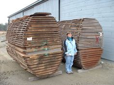 Much of our lumber is cut through and through, as seen here with these two African Logs