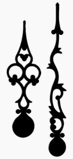 The Free SVG Blog: Ornate Clock hands - Free SVG Download
