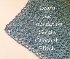 Links to help you master the foundation single crochet stitch by Little Monkeys Design.