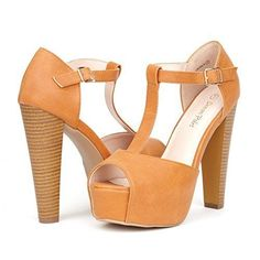 a825b4e9676 DREAM PAIRS LAURA Women s Peep Toe High Heel T-Strap Enjoyable Platform  Pumps Sandals Shoes