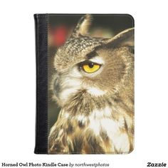 Horned Owl Photo Kindle Case
