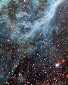 *Turquoise-tinted plumes in the Large Magellanic Cloud* This image shows part of the Large Magellanic Cloud (LMC), a small nearby galaxy that orbits ou... - Elijah Daniels - Google+