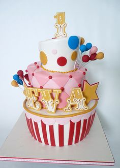 Another favorite circus themed, for a little girl.