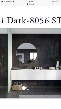 Fibo Lentini Dark - Lilly is Love Black Shower, White Bathroom, Bathroom Storage, Rustic Decor, D1, Mirror, Home Decor, Round Bathroom Mirror, Bathroom Vanity Cabinets