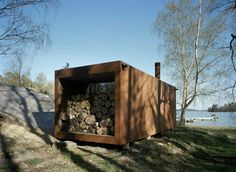 container Sauna.  A low cost effective way to re-use a shipping container