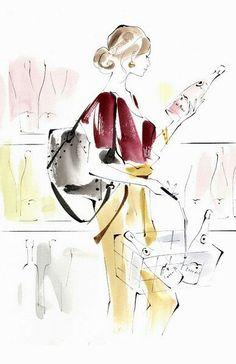 Yoco nagamiya Illustration Pen And Ink, Ink Illustrations, Fashion Illustrations, David Downton, Comic Drawing, In Vino Veritas, Fashion Design Sketches, Sketch Painting, Minimalist Art