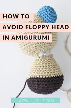 how to avoid floppy head amigurumi This tutorial is about how to avoid your amigurumi or crochet toys head becoming floppy. It`s just a simple trick you definitely want to know. Bag Crochet, Crochet Basics, Crochet Crafts, Crochet Baby, Crochet Projects, Crochet Tutorials, Crochet Birds, Crochet Food, Crochet Animals