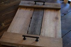 rustic reclaimed wood serving tray with by CarriageHouseCreek