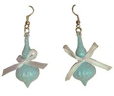 Blue Sparkly Frozen Ornament Dangle Earrings CLEARANCE SALE $4.99 Created and sold exclusively by Lil Miss Marmalade