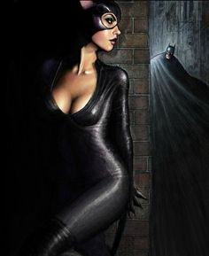 Everyone knows Catwoman wanted some action from Batman. Too bad Batman was so honorable. That would have created some incredibly sexy encounters! Dc Comics Art, Comics Girls, Marvel Dc Comics, Batman Et Catwoman, Batman Art, Catwoman Cosplay, Batman Arkham Knight, Gotham Batman, Batman Robin