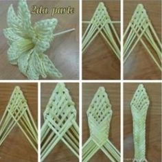 Flax Weaving, Straw Weaving, Paper Weaving, Weaving Art, Weaving Patterns, Basket Weaving, Straw Crafts, Leaf Crafts, Flower Crafts