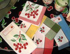 Retro Vintage Style Yellow Cherry Kitchen Woven Tea Kitchen Dish Hand Towel   eBay