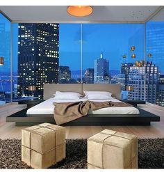 Dream Bedroom Design Ideas For Luxury House - Luxury Bedroom Design, Master Bedroom Design, Dream Bedroom, Bedroom Designs, Luxury Decor, City Bedroom, Bed Designs, Master Bedrooms, Bedroom Apartment