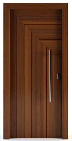 Porte d'entrée / battante / en bois massif - GORTYNA - Block95