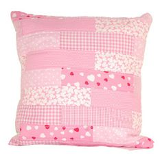 light pink quilted cushion