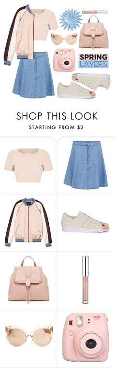 """""""Wardrobe Basics: Spring Jacket"""" by leslee-dawn ❤ liked on Polyvore featuring River Island, Maison Scotch, adidas Originals, Essence and Linda Farrow"""