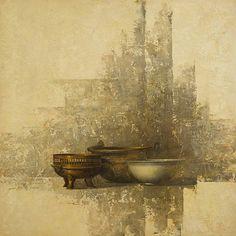 Allan Madsen Still Life Painting with Bowls