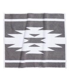 Yellow And Frost Gray Aztec Bath Mat Decor Ideas Pinterest - Black cotton bath mat for bathroom decorating ideas
