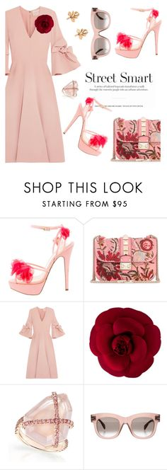 """Blush Fridays"" by pensivepeacock on Polyvore featuring Charlotte Olympia, Valentino, Roksanda, Chanel and CÉLINE"
