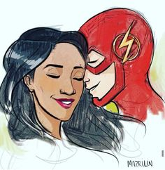Grant Gustin = Barry Allen = The Flash (The CW) + + Candice Patton = Iris West // @WithLoveReesie