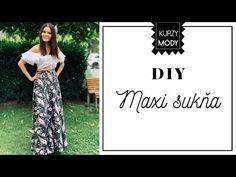 (146) AKO UŠIŤ MAXI SUKŇU BEZ OVERLOCKU. Rýchle šitie pre začiatočníkov. - YouTube Lace Skirt, Modeling, Sewing, Skirts, Youtube, Fashion, Moda, Dressmaking, Couture