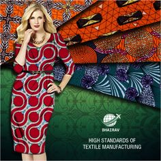 With our high standards of #textile manufacturing, our #fabric not only does fit you well but also feels great on the skin.  #AfricanFashion #africanfabric