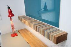 multi-colore shelf design for living room
