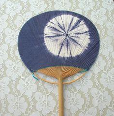 Japanese Tie-Dye Uchiwa Fan