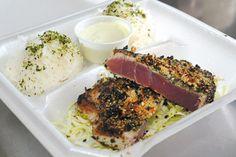 Pan-Seared Ahi with Furikake and Garlic, $8, from Ahi Assassins. #food #dining #hawaiifood #hawaiidining #hawaii