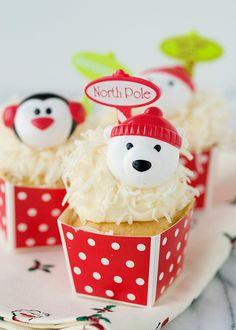Take me to the North Pole, polar bear cupcake!