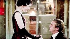 Matthew proposes to Mary on snowy Eve