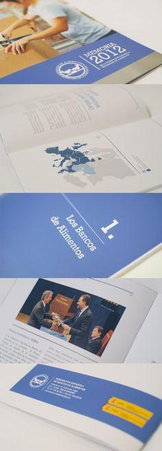 Diseño de la memoria 2012 de la Federación Española de Bancos de Alimentos